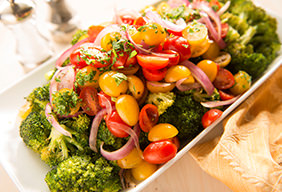 Roasted Broccoli & Red Onion Salad