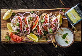 Smoked Greek Chicken Tacos with Tzatziki by Utetastic