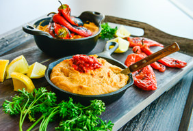 Roasted Red Pepper White Bean Dip