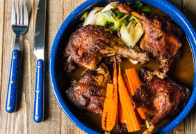 Smoked and Braised Duck Legs