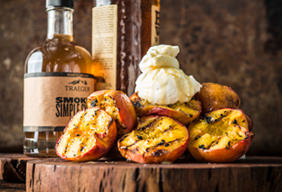 Grilled Honey Bourbon Peaches