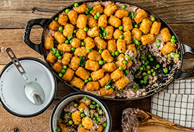 Baked Venison Tater Tot Casserole by The Bowmars