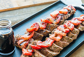 Pork with Balsamic Strawberry Sauce