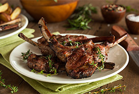Lollipop Lamb Chops with Rosemary Sauce