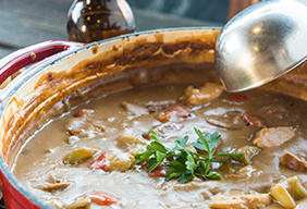 Chicken, Andouille & Roasted Potato Gumbo