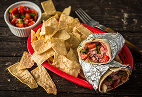 Grilled Carne Asada Burrito with Smoked Pico
