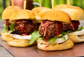 Pizza Meatball Sliders