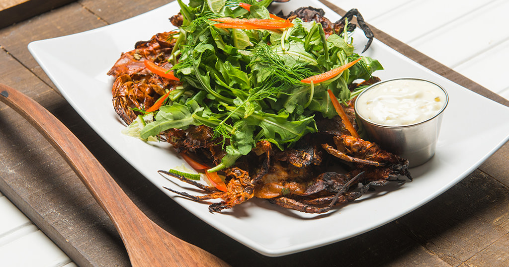 Grilled Soft Shell Crabs