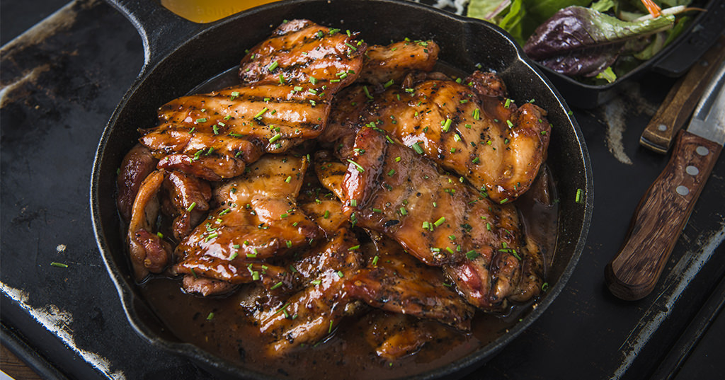 Baked Apricot Glazed Chicken Thighs