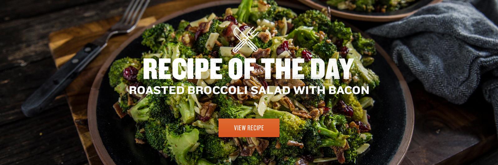 Roasted Broccoli Salad with Bacon