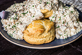 Biscuits and Smoked Sausage Gravy