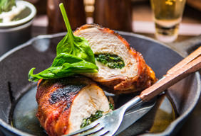 Bacon-Wrapped Stuffed Chicken Thighs