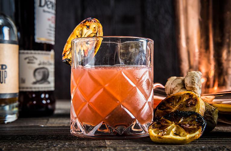Smokey Scotch & Ginger Cocktail