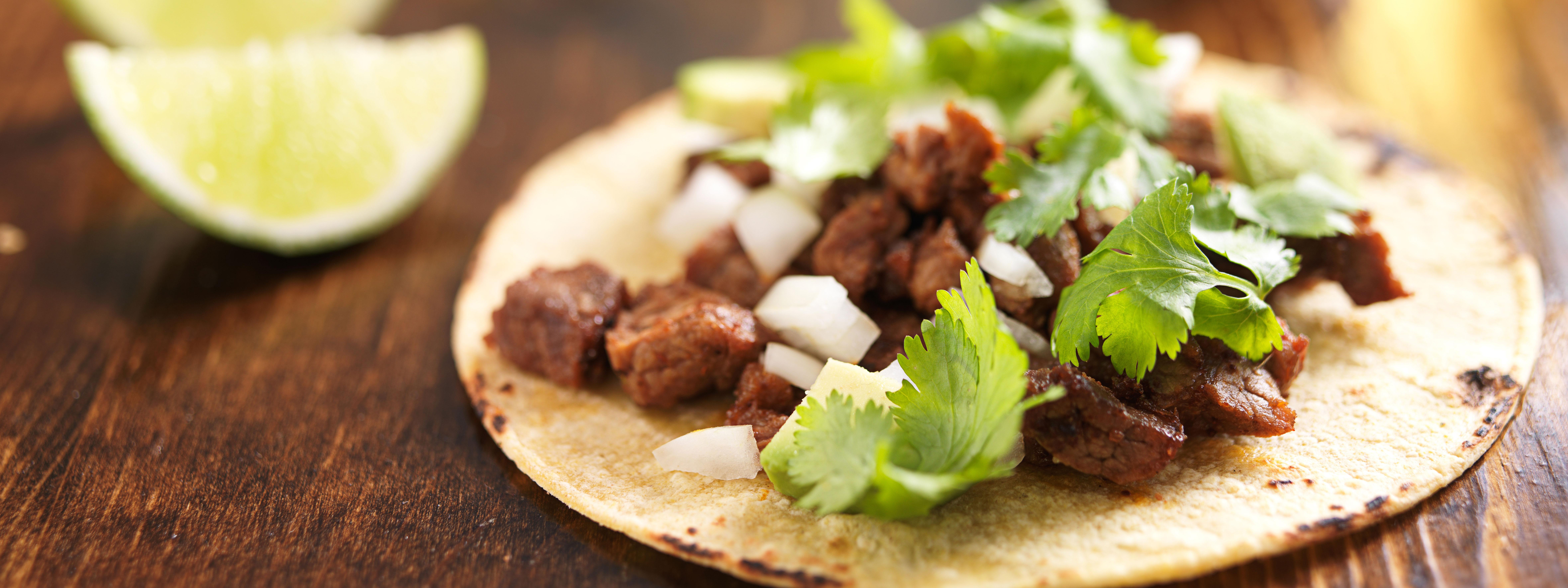 Skirt Steak Tacos With Spicy Sour Cream Recipe — Dishmaps