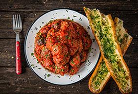 Braised Italian-Style Venison Meatballs