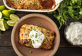 Baked Turkey Enchiladas