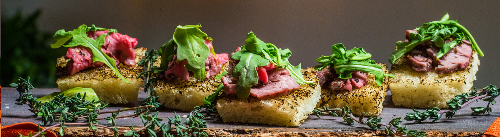 Smoked Beef Tenderloin Crostini