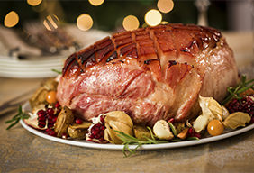 Apple Cider Glazed Holiday Ham