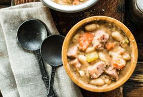 White Bean & Ham Soup
