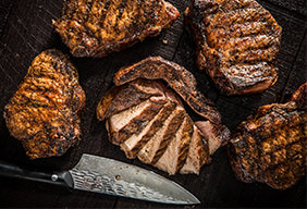 Grilled Thick Cut Pork Chops