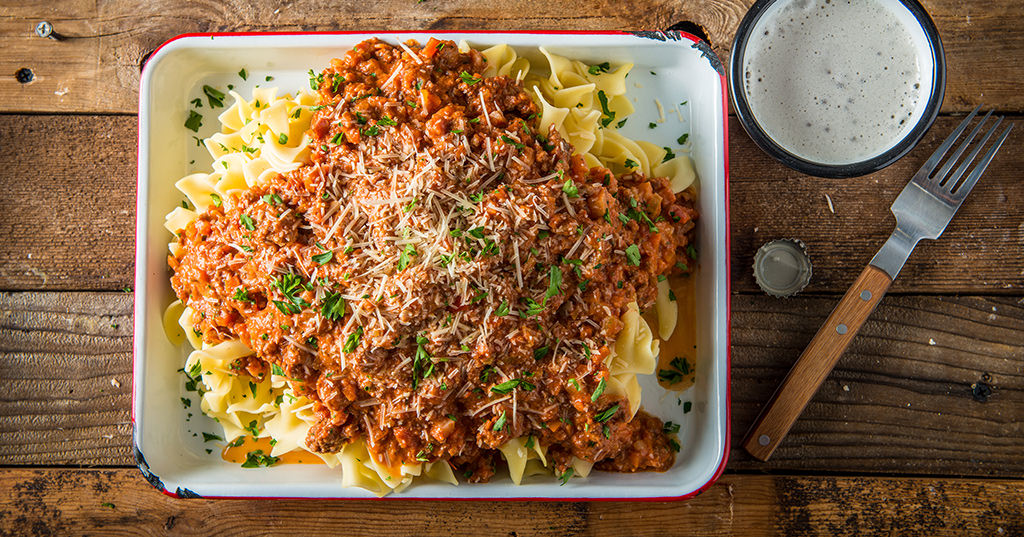 Weekend Pasta with Slow Braised Meat Sauce