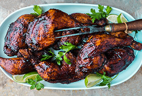Dennis the Prescott's Ancho-Chili Smoked BBQ Chicken Legs