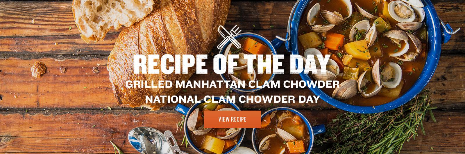 Grilled Manhattan Clam Chowder