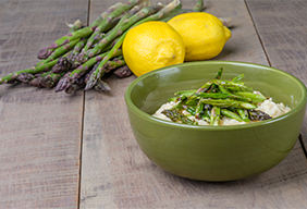 Baked Lemon Asparagus Risotto
