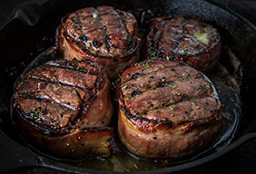 Traeger Bacon Wrapped Filet Mignon