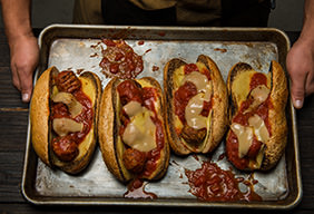Traeger's Smoky Meatball Subs