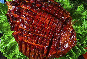 Roasted Ham with Apricot Sauce