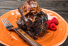 Kodiak Cakes: Candied Bacon Crumble Brownies