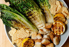 Grilled Romaine Caesar Salad by Amanda Fredrickson